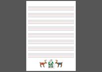 グリーンサンタ(R)オリジナル英語練習紙1